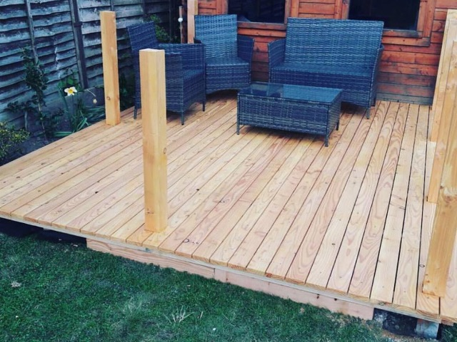 44 Larch Decking by Co2 Timber
