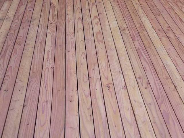 46 Larch decking by Co2 Timber