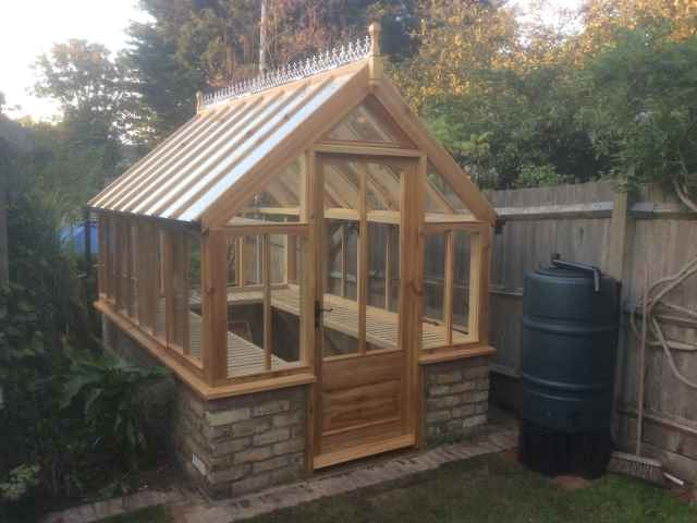 Co2 Timber cedar greenhouse 92