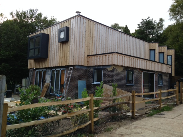 Co2 Timber Board on Board cladding