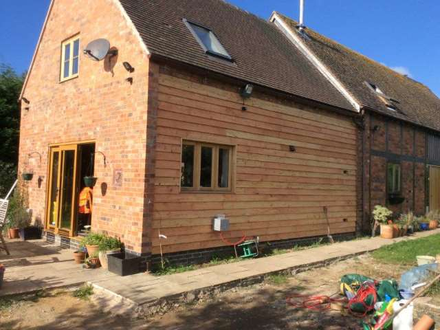 Co2 Timber Larch board on board cladding one of our customer projects.